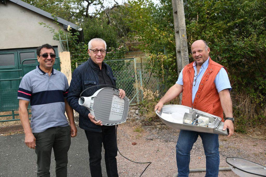 Montcenis : l'entreprise Inelec passe l'éclairage public aux leds. Photo Le Creusot Infos